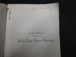 Red Cross Home Nursing - 2 by Normadeane Armstrong Ph.D, A.N.P.