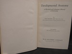 Developmental Anatomy: A Textbook and Laboratory Manual of Embryology - 1 by Normadeane Armstrong Ph.D, A.N.P.