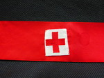 Red Cross Armband by Normadeane Armstrong Ph.D, A.N.P.