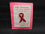 AIDS Awareness Pin A by Normadeane Armstrong Ph.D, A.N.P.