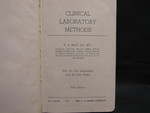 Clinical Laboratory Methods - 1 by Normadeane Armstrong Ph.D, A.N.P.